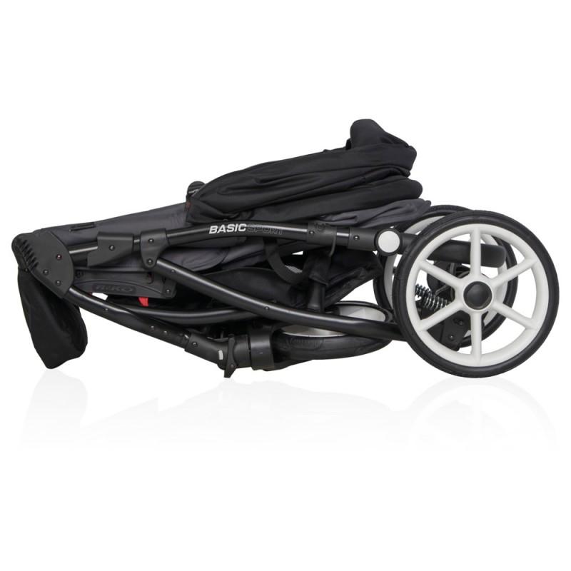 Wózek głęboki Euro-Cart CAMPO + Torba + Adaptery Maxi Cosi